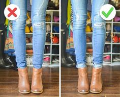 Casual: The Do's and Don'ts of Cuffing Your Jeans with Ankle Boots - a helpful article detailing the best ways to combine cuffed jeans and booties; a killer spring combo! Looks Chic, Looks Style, Style Me, Cuffed Jeans, Jeans And Boots, Jeans With Short Boots, Ankle Boots Skinny Jeans, Rolled Jeans, Jeans Shoes