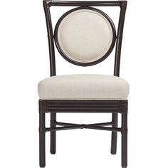 McGuire Orlando Diaz-Azcuy Salon Side Dining Chair (31.003.275 IDR) ❤ liked on Polyvore featuring home, furniture, chairs, dining chairs, ivory dining chairs, mcguire furniture, beige dining chairs, cream furniture and antique white dining chairs