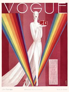 Rainbow brite in Vogue.    American Vogue cover illustrated by Benito for the september 1st 1920 issue.    Conde Nast Archives.  D.R.