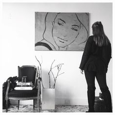 'Portrait in Grey- Eloisa' by Patrick Langlois now available both in store and online. #happysunday #pennyfarthingdh