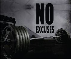 Fitness Motivation Home Gym Wall Decal - No Excuses Wall Decal