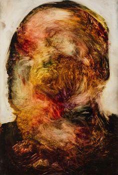 Sans Titre, 2014 Ink on board, Image via https://www.artsy.net