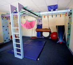 Fun Factory Sensory Gym LLC – Custom sensory gym home - GYM workout Gymnastics Room, Gymnastics Equipment For Home, Gymnastics Stuff, Kids Gym, Basement Gym, Basement Play Area, Basement Bathroom, Basement Ideas, Gym Room