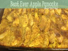 Best Ever apple pancake recipe you will ever make. You gotta try this easy breakfast casserole. Great food for brunch or breakfast food anytime. Just in time for apple season. Pin it so you can make this later.
