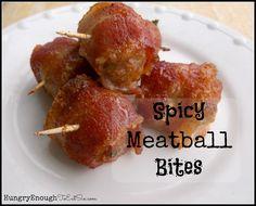 Spicy Meatball Bites