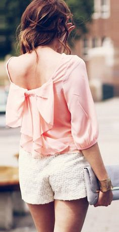 Cute bow back top