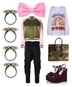 """Tara."" by amberjak ❤ liked on Polyvore featuring Alexander McQueen, Plukka, Faith Connexion, Yves Saint Laurent and Miu Miu"