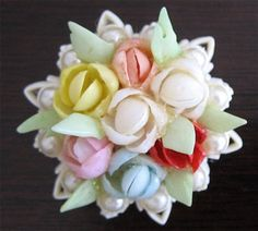 Shell Flower Brooch