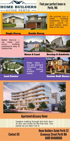 Home Builders Guide Perth assists homeowners or contractors who are unfamiliar with building and municipal Code sections in planning. Visit us at 33 Greenway Street Perth WA 6000 or call us at 894688060,