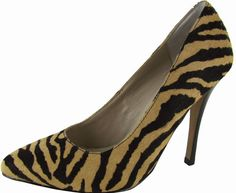 Tiger stripe heels, purrfect for day or night, and brought to you by Steve Madden.