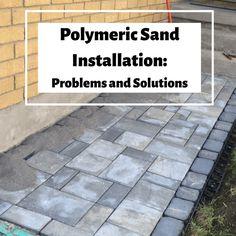 Paver Sand, Paver Stones, Home Depot Pavers, Polymeric Sand, Landscape Drainage, Summer Flowers, Flowers Garden, House Yard, Brick Patios