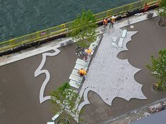 East Bayfront Water's Edge Promenade by West 8 + DTAH 06 « Landscape Architecture Works Contemporary Landscape, Urban Landscape, Landscape Photos, Landscape And Urbanism, Landscape Design, Pavement Design, Paving Pattern, Paving Design, Landscaping Near Me
