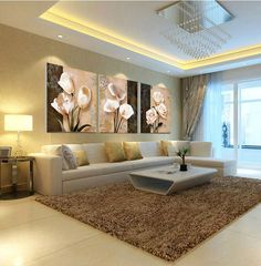 Modern Living Room Brown Design More See Imagen Relacionada