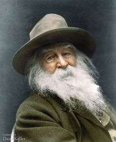 "Today marks the birthday of the great American poet Walt Whitman. Don't miss ""Whitman, Alabama,"" on view through June ""Portrait of Walt Whitman,"" by George Collins Cox Walt Whitman, Whitman Poems, Colorized Historical Photos, Colorized History, Historical Pics, Black White Photos, Black And White, Great Poems, Fantastic Quotes"