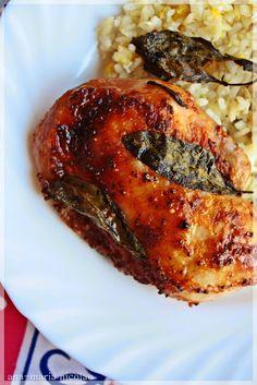Friptura de pui cu salvie si mustar - Ama Nicolae Salvia, Chicken, Meat, Food, Sage, Essen, Meals, Yemek, Eten