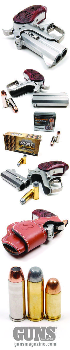 """Exclusive: Modern .45 Colt Ammo   Mark's Summary: Don't overlook modern .45 Colt ammo. It's reliable, packs a wallop, and matches up well with an """"old"""" modern gun such as the Bond Arms Patriot.   © GUNS Magazine 2016"""