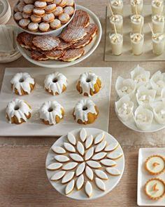 """Beautiful white dessert buffet. I love this for a brunch or """"tea party""""."""
