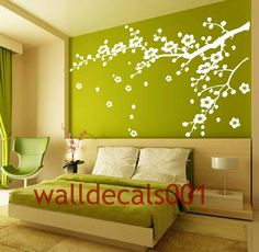 Vinyl Wall Decals wall stickers tree decal flower decal baby decal nursery decal wall decor room decor wall art-Cherry Blossom decals. $42.00, via Etsy.
