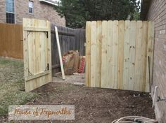 Tips and tutorial on building the perfect fence and fence gate.  www.houseofhepworths.com