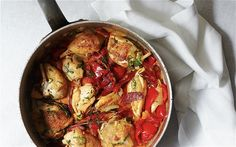 Pot-roast chicken with chorizo and peppers - Angela Hartnett food recipes Mediterranean-inspired dishes at home Raw Food Recipes, Cooking Recipes, Dinner Recipes, Easy Pot Roast, I Want Food, Roast Chicken Recipes, Food Journal, Yum Yum Chicken, Mediterranean Recipes
