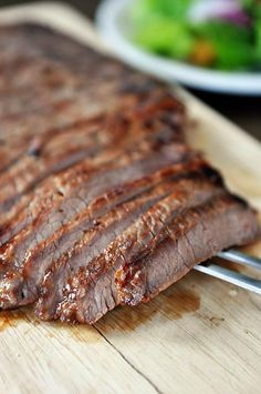 Honey and Ginger Marinated Flank Steak | Mel's Kitchen Cafe