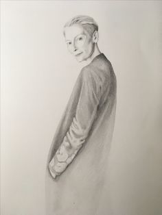 Tilda Swinton pencil drawing from The Muse Illustrations. For RoryWilliamDocherty Part Agnus Dei Pencil Drawings, My Drawings, Tilda Swinton, Muse, Illustrations, Statue, Art, Art Background, Illustration