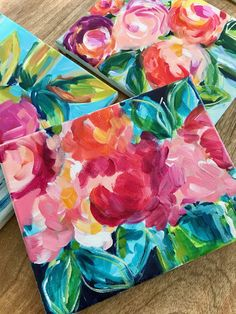 Learn how to paint easy abstract flowers with acrylic paint on canvas. These flower painting tutorials offer step by step instructions for beginner artists! Artist Elle Byers will teach you her easy process for painting abstract flowers! Easy Flower Painting, Flower Painting Canvas, Flower Canvas, Oil Painting Abstract, Painting Art, Flower Paintings, Acrylic Canvas, Indian Paintings, Painting Tips