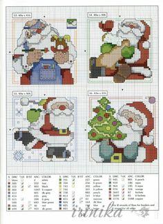 101 Ornaments for Christhimas - Poli natal - Picasa Web Albums Snowman Cross Stitch Pattern, Santa Cross Stitch, Cross Stitch Cards, Cute Cross Stitch, Cross Stitch Designs, Cross Stitching, Cross Stitch Embroidery, Cross Stitch Patterns, Cross Stitch Christmas Ornaments