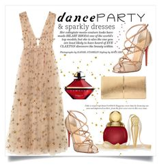 Dance Party by conch-lady on Polyvore featuring polyvore, fashion, style, Valentino, Christian Louboutin, Nina Ricci, Guerlain, Christian Dior, clothing, danceparty and sparklydresses