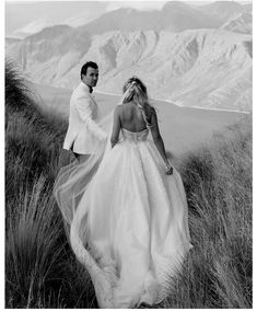 """WEDDING READY CO. on Instagram: """"WOW!  What a breathtaking shot - the backdrop, the gown, the couple, the scenery, the beauty! ⠀⠀ Beautifully captured by @imagehausweddings…"""" Pallas Couture, Plus Size Gowns, Beaded Lace, One Shoulder Wedding Dress, Dress Wedding, Fancy Dress, Bridal Dresses, Ball Gowns, Wedding Inspiration"""