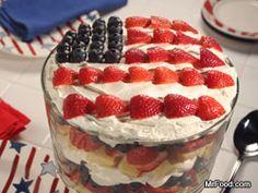 American Berry Trifle #4thofJuly #dessert #recipe