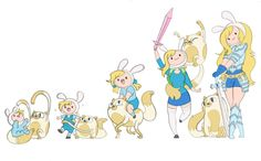 Fionna and Cake Timeline by Kikaigaku on @DeviantArt
