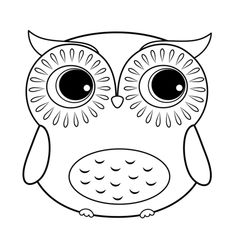 Cartoon Owl Coloring Page More
