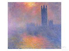The Houses of Parliament, London, with the Sun Breaking Through the Fog, 1904 Gicléedruk van Claude Monet bij AllPosters.nl