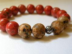 Harvest     Picture Jasper And Red Coral by ScorpionMoonDesigns, $58.00
