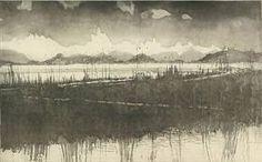 Norman Ackroyd, Holkham Beach at Sunset, Aquatint, 41 x 68 cm Norman Ackroyd, Intaglio Printmaking, Cool Posters, Gravure, Landscape Art, Light In The Dark, Contemporary Art, Art Gallery, Fine Art