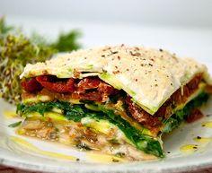 Lasagna Vegetal Semicruda