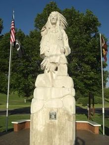 Chief Pocatello, Pocatello, Idaho by J.D. Adcox - The city is named after Chief Pocatello of the Shoshoni tribe, who granted the right-of-way for the railroad across the Fort Hall Indian Reservation.
