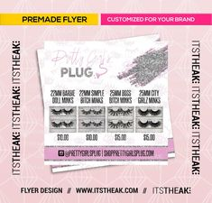Premade Lash Prices Flyer – Customized Just For Your Brand – Mink Lashes Eyelash Extensions Lash Business Lashes Glitter Eyelashes ITSTHEAK Business Names, Business Ideas, Business Flyers, Business Goals, Lash Lounge, For Lash, Mink Eyelashes, Order Prints, Eyelash Extensions