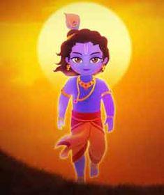 Animated Little Krishna Cartoon Wallpaper HD Picture