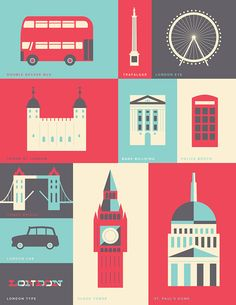 London Patterns and Icons by Russ Gray, via Behance