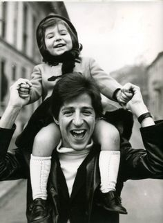 Gaber con la figlia Dalia