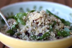 Nutty Quinoa, Spinac