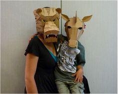 Mask Made From Cardboard | cardboard masks