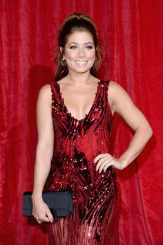 Nikki Sanderson: Wearing a Nadine Merabi gown | British Soap Awards 2016 at the Hackney Town Hall Assembly Rooms on May 28, 2016