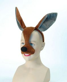 (Kangaroo) - Bristol Novelty Kangaroo Eye Mask with Sound On Headband, for sale online Fancy Dress Masks, Fancy Dress For Kids, Fancy Dress Accessories, Party Accessories, Kangaroo Costume, Seussical Costumes, Alice Costume, Animal Masks, Australian Animals