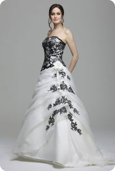 Find This Pin And More On Dream Wedding By Darkangel2012 My Dream Dress Black And White Wedding Dress