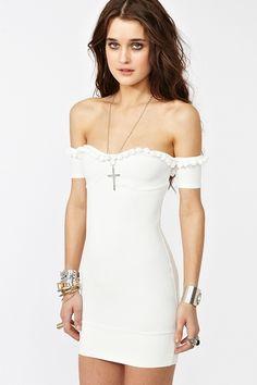 Caliente Dress - White. $108.00. http://www.nastygal.com/clothes/caliente-dress-white
