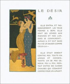 Les Chansons de Bilitis,illustrations by George Barbier published in 1922