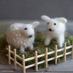 Head to your local craft store for some roving wool and a roving needle. See the adorable little creatures you can create with the art of needle felting using our needle felting tutorials and templates!